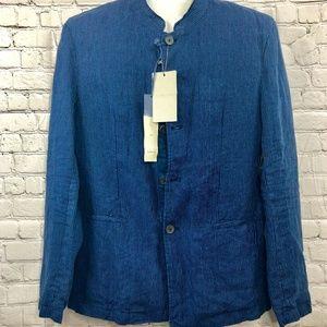Zara Man Blue Pin Stripe Blazer Jacket Size 40